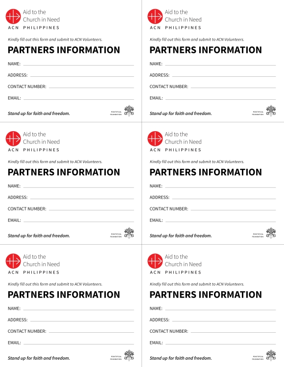 Sign-up Form for Mission Partners